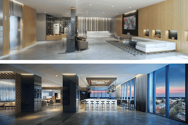 The Hotel Features Marriott Brand S Signature Open Concept Es Equipped With Modern Furnishings And Décor Communal Environments Will Also Boast