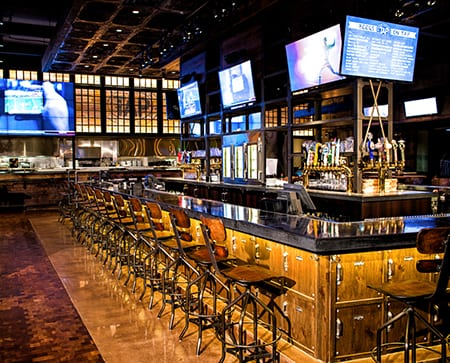 Tap at mgm grand detroit hospitality design tap at mgm grand detroit is where local sport fans become acquainted with the citys industrial past its not only a great local bar but its a detroit aloadofball Images