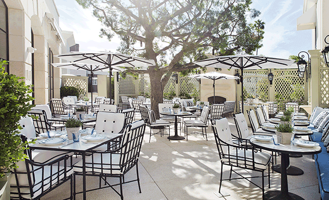 The Belvedere Onsite Restaurant At Peninsula Beverly Hills Hotel Has Debuted Its New Outdoor Terrace As Part Of Eatery S Full Interior