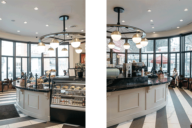 Locally Based BOX Interior Design Infused The 1,395 Square Foot Café With A  Casual, Vintage, And Chic Aesthetic Accented With Mahogany, Marble, And  Brass.