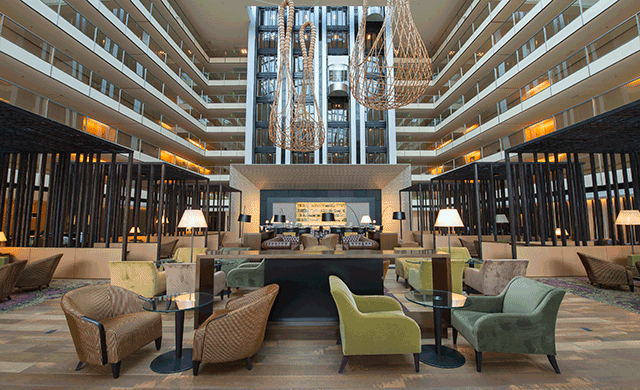 Hilton buenos aires shows off lobby renovations for Hotel tre design buenos aires