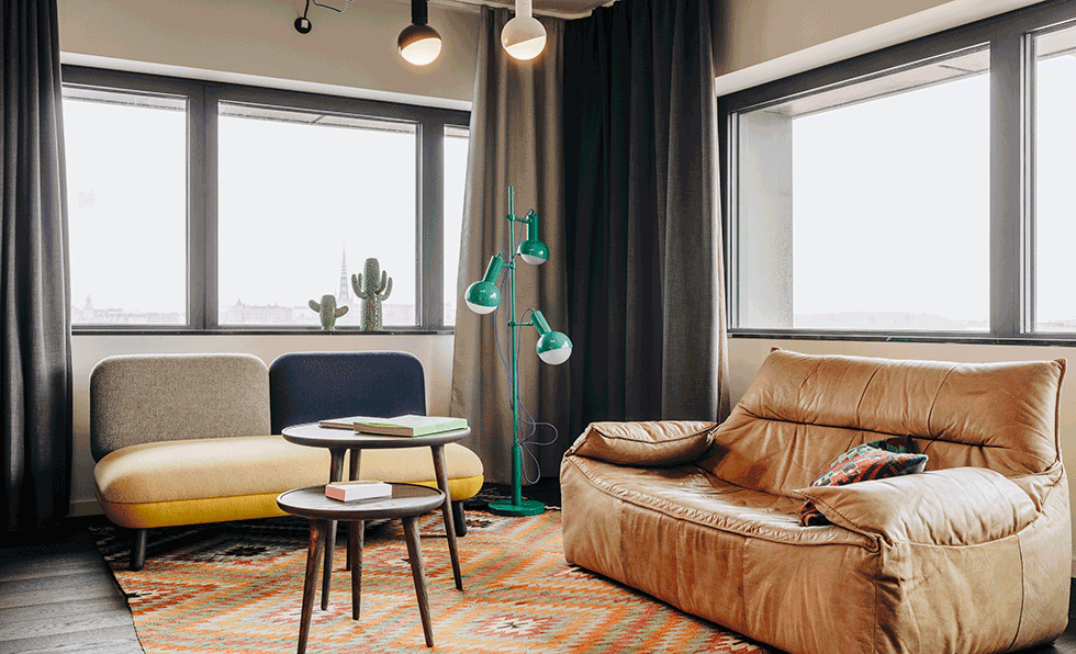 Spanning Nearly 420 Square Feet, Hobo Suites Are Outfitted With Spacious  Living Areas, Contemporary Furniture, And Pops Of Color.