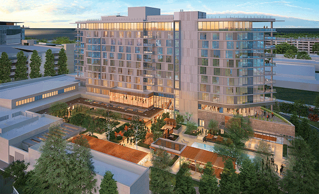 Hotel Nia Has Opened In Menlo Park California As The Latest Entry Into Marriotts Autograph Collection Cuningham Group Conceived Glass Enclosed