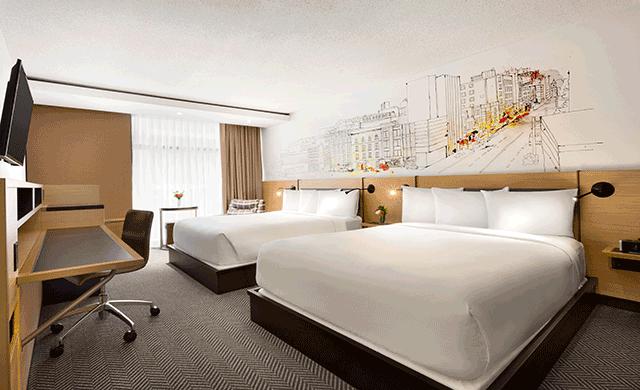 Hotel pur quebec reveals redesign hospitality design for Hotel design quebec