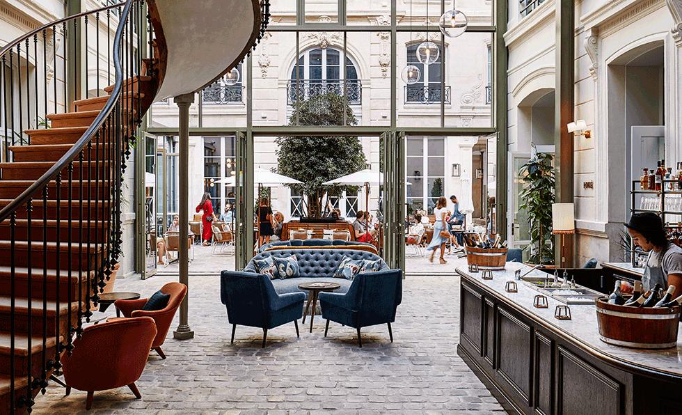 photos the hoxton paris hospitality design. Black Bedroom Furniture Sets. Home Design Ideas