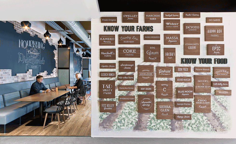 IAu0027s Team Dressed The Interior With Functional Backdrops From Writable  Walls To Burlap Covered Headlines That Showcase LinkedInu0027s Farm To Table  Efforts.