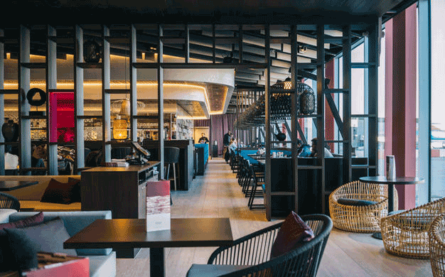 The Indoor Outdoor Restaurant Reflects Contemporary And Traditional Influences