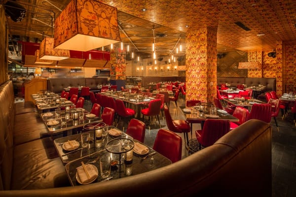 The general restaurant new york hospitality design for Amber asian cuisine nyc