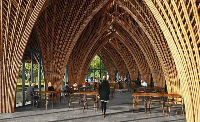 Vo Trong Nghia Architects Crafts Ting Xi Bamboo Pavilion