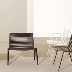 The Aluminum Zebra Armchair And Lounge Chair Designs From Janus Et Cie  Reflect The Stripes Of Their Namesake With Energetic Lines That Enhance Its  Striking ...