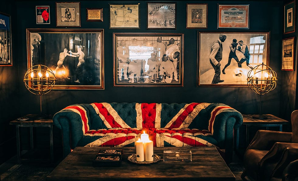 Merveilleux A Focal Point Of The Room, An Oulton Designed Sofa Features A Giant British  Flag Design Over A Chesterfield Silhouette.